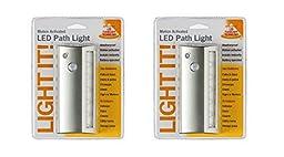 Fulcrum 20032-301 6 LED Motion Sensor Weatherproof Light, Silver (2 Pack)