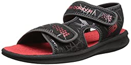 New Balance Sport 2 Strap Adjustable Sandal (Infant/Toddler/Little Kid/Big Kid), Black/Red, 1 M US Little Kid