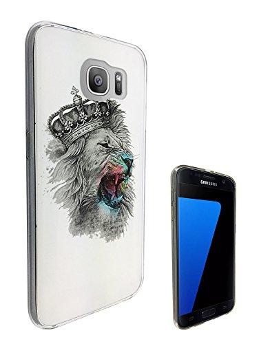 c0306 - Cool Fun Crown Lion Design Samsung Galaxy S7 Edge G935 Fashion Trend Gel Rubber Silicone Case Caso / Cover copertura posteriore