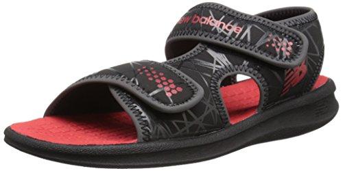 New Balance Sport 2 Strap Adjustable Sandal (Infant/Toddler/Little Kid/Big Kid), Black/Red, 9 M US Toddler