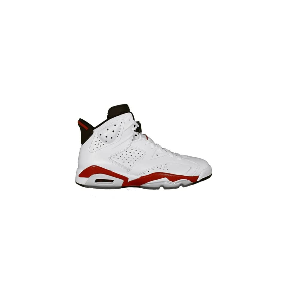42c4cf5fd770 Nike Air Jordan 6 Retro Bulls White Varsity Red Black Mens Shoes 384664 102  14