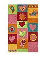 Tapis a Porter Alfombra Home Art Kids Verde/Multicolor 110 x 170 cm