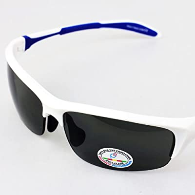 Real Kids Shades White/Navy Blade Polycarbonate Silver Mirror 10+ Sunglasses