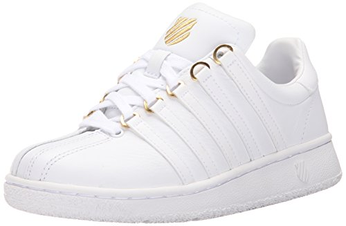 K-Swiss Women's Classic VN 50th Athletic Shoe, White/Gold, 8 M US