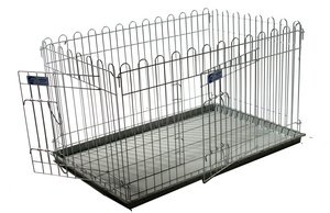 Croft puppy pen with base tray and 2 gates. - 41 x 27 x 23 inches high