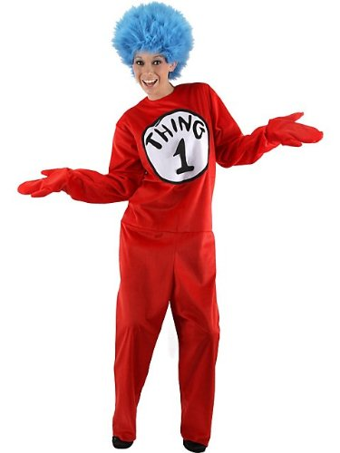 Dr. Seuss Thing 1/2 Costume - Large/XL - Chest Size 46-48