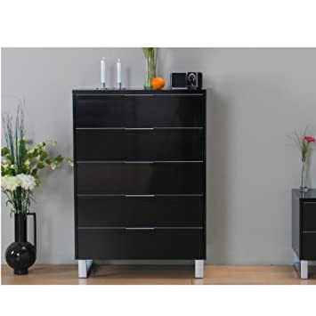 kommode toronto schubladenkommode sideboard highboard schrank schwarz hochglanz opykrpodk. Black Bedroom Furniture Sets. Home Design Ideas
