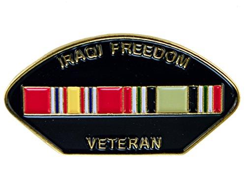 Iraqi Freedom Veteran Iraq War Hat or Lapel Pin