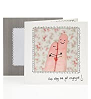 Photo Fingers Engagement Card
