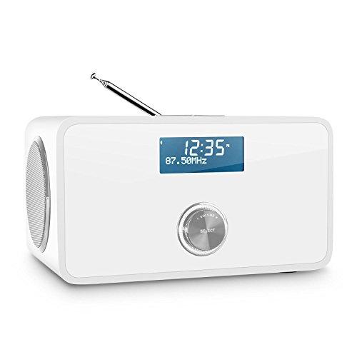 auna-DABStep-DABDAB-Digitalradio-Radio-mit-Bluetooth-Radiowecker-Fernbedienung-DABDAB-Radio-UKW-Tuner-RDS-Funktion-Dual-Alarm-Sleep-Timer-Schlummerfunktion-AUX-Eingang-Bassreflexgehuse-Wei