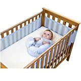 Safe Dreams Cot Wrap 4 Sided Blue
