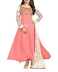Surat Dream Women's Georgette Unstitched Dress Material(EC106, Pink)