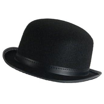 Amazon.com: New Black Felt Bowler Derby Hat Costume Dance Plays Medium