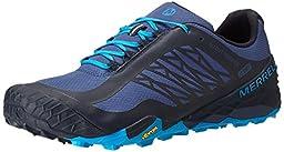 Merrell Men\'s All Out Terra Ice Waterproof Trail Running Shoe, Navy/Racer Blue, 9 M US