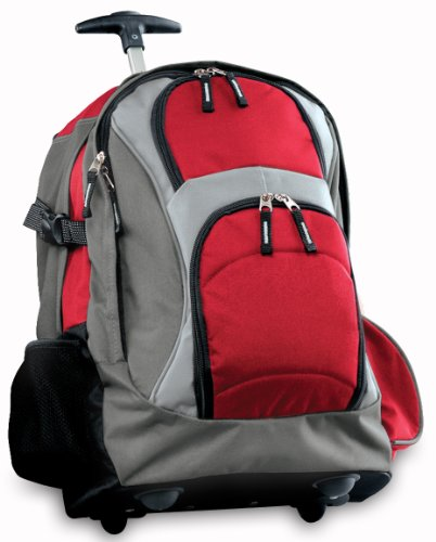 Broad Bay Rolling Backpack Deluxe Red Best Quality Backpacks Bags With Wheels O