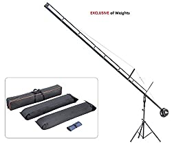 Flyfilms Professional 18ft Film Jib Crane with Stand Boom for camera upto 22 lbs for Cinemtographer, Photographer, Film maker, Video movie