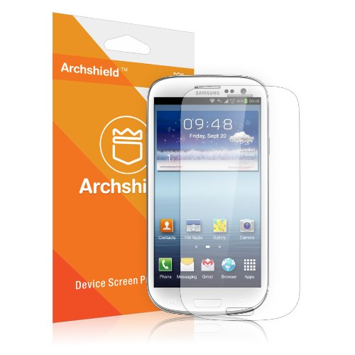 Archshield - Samsung Galaxy S3 S Iii Premium High Definition (Hd) Clear Screen Protector 3-Pack - Retail Packaging (Lifetime Warranty)