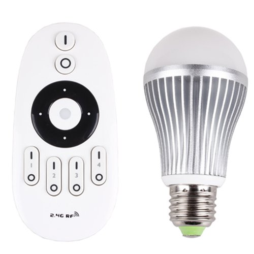 Enjoydeal Ac85-265V E27 6W Dimmable Flash Rgb Led Bulb & 2.4G Wireless Touch Remote Controller