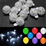 Generic 100 PCS White Led Lamps Balloon Light For Paper Lantern Wedding Party Decoration