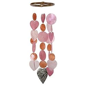 Zen Zen Garden Capiz Shell Wind Chime -Sweet Heart Chimes Warm W41