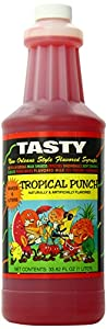 Tasty New Orleans Style Flavored Syrup, Tropical Punch, 33.82-Ounce (Pack of 6)