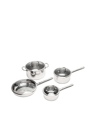 Berghoff Earthchef Boreal 8 Piece Cookware Set Stainless Steel, Silver