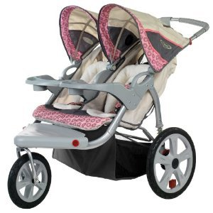 41ALHAmz%2BRL InStep Grand Safari Swivel Wheel Double Jogger, Tan/Pink with Mini Tool Box (fs) | Review