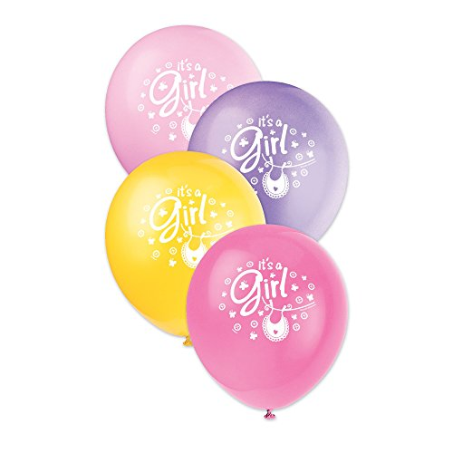 12-latex-pink-clothesline-girl-baby-shower-balloons-8ct