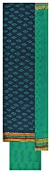 Royal Women's Cotton Unstitched Dress Material (Blue and Green)