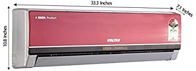 Voltas 123 PYa-R Premium Ya R Series Split AC (1 Ton, 3 Star Rating, Red)