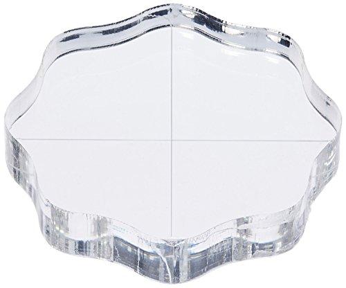 """Tarte aux pommes mémoires tampon acrylique bloc avec poignées & grille-2.5 « X2.5 » X.5 """"épais"""