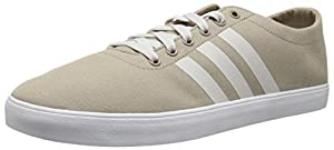 adidas NEO Men's Easy Vulcanized Lifestyle Skateboarding Shoe, Cargo Khaki/Pearl Grey/White, 9 M US
