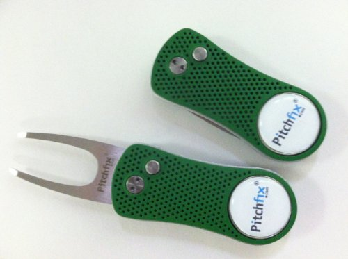 Pitchfix Divot Tool (Green/Silver) (Golf Divot Tools compare prices)