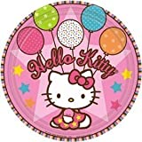 Amscan Hello Kitty Balloon Dreams 7&quot; Paper Plates, 8-Count