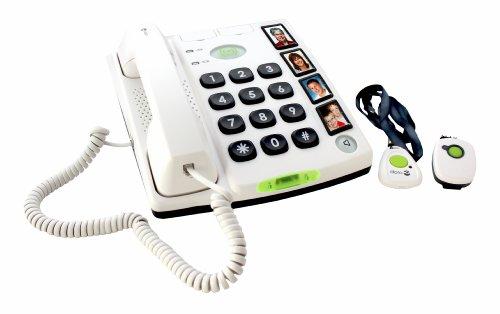 Doro Secure 347 téléphone fixe filaire Blanc