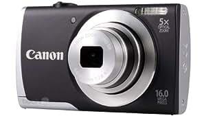 """Canon PowerShot A2500 Appareil photo numérique compact 16 Mpix Écran LCD 2,7"""" Zoom optique 5X Noir"""