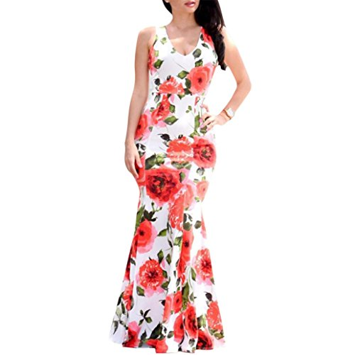 Women Dress, Franterd Ladies Bodycon Boho Maxi Evening Party Roses Jumpsuits