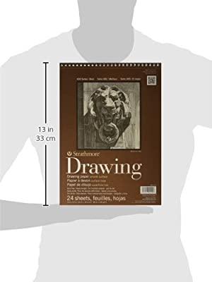 Strathmore 400-104 400 Series Drawing, Smooth Surface, 9x12 Wire Bound, 24 Sheets (Color: Cream, Tamaño: 9x12)