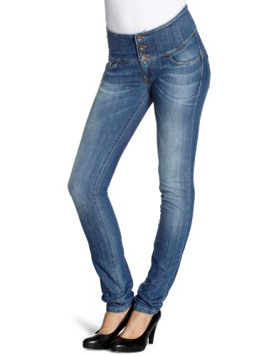 Salsa - Jeans slim, donna, Blu (Blau (EBCF)), 40 IT (26W/34L)