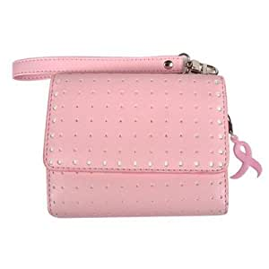 Technocel Universal Sophie Purse - Pink with White Dots