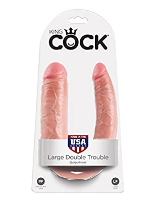 King Cock Flesh Large Double Trouble Dildo