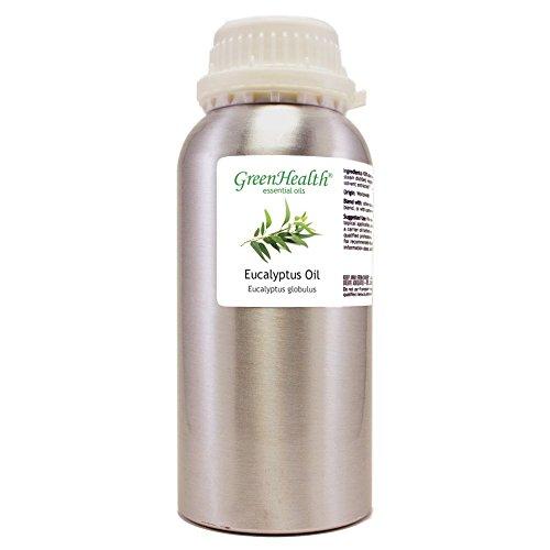 Eucalyptus Globulus - 16 fl oz (473 ml) Aluminum Bottle w/ Plug Cap - 100% Pure Essential Oil - GreenHealth