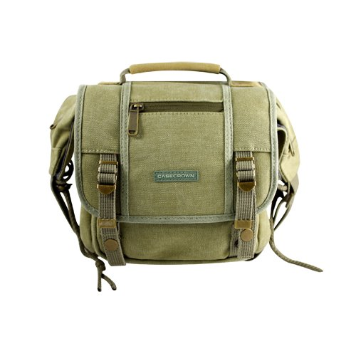 CaseCrown CAMO Rugged Canvas Messenger Bag for the Canon EOS Rebel T1i 15.1MP Digital SLR Camera Carrying