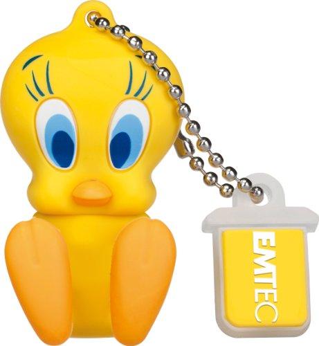 EMTEC Looney Tunes 8 GB USB 2.0 Flash Drive, Tweety Bird