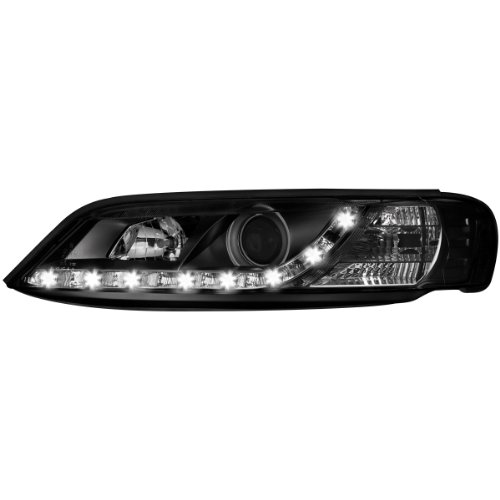 Dectane SWO08LGXB Lot de 2 phares D-Lite avec feux de circulation diurnes pour Opel Vectra B entre 1999 et 2002 (Noir)
