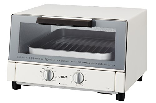 TIGER toaster oven freshly baked white wide KAM-A130W