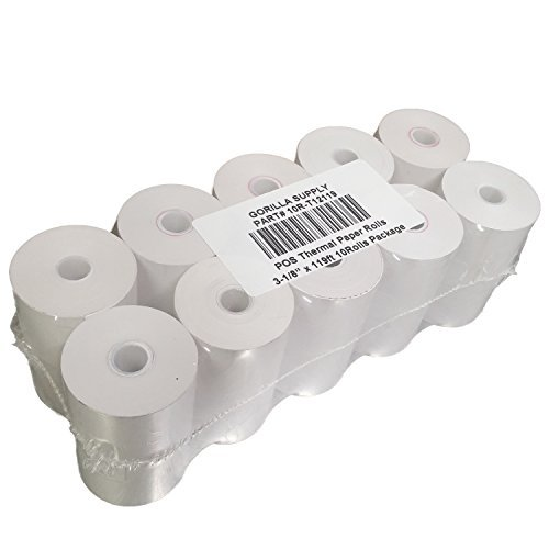 gorilla-supply-3-1-8-x-119-1-ply-thermal-paper-rolls-sealed-pack-of-10-rolls-for-first-data-fd100-fd