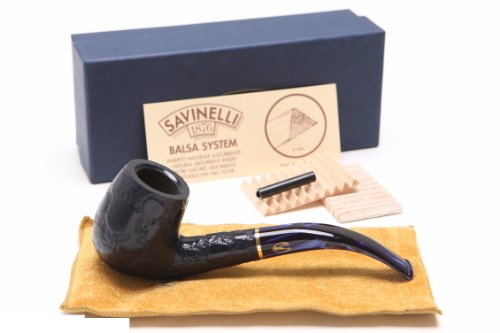 Savinelli Alligator Blue 606B Tobacco Pipe