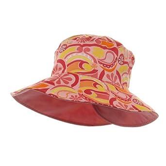 Ladies Floral Reversible Fashion Hat-Pink