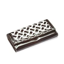 Brown and White Weave Classic Wallet